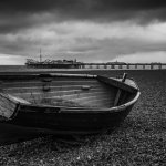 Sussex Monochrome old boat brighton