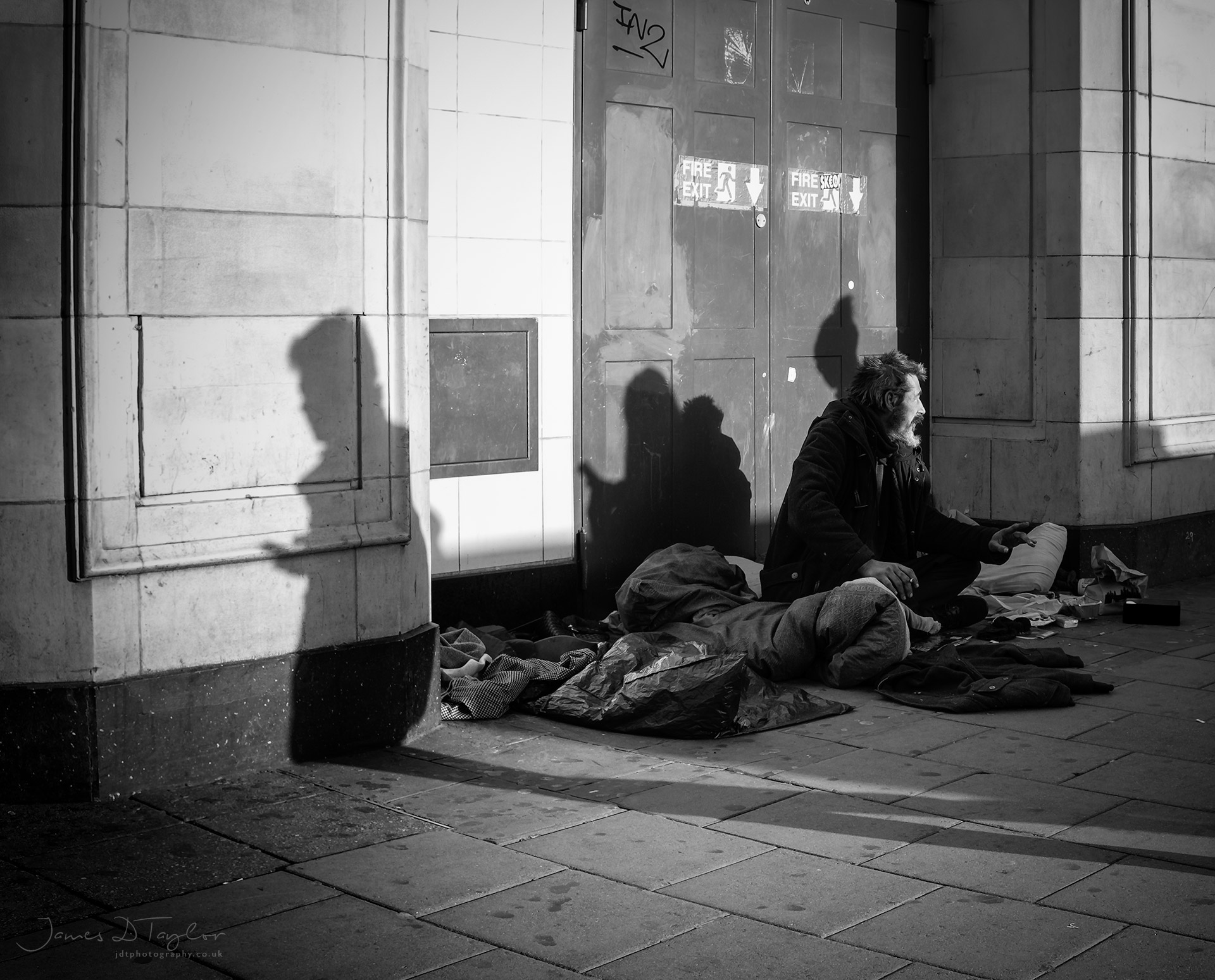 urban_bnw_homeless_man_oxfrod_st_london